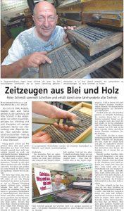 Zeitzeugen aus Blei und Holz